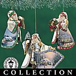 Thomas Kinkade Old World Santa Ornament Collection