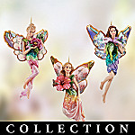 Lena Liu Hummingbird Garden Angels Christmas Ornament Collection