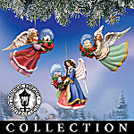 Thomas Kinkade Snowglobe Village Angel Christmas Ornament Collection