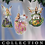 Angels Of The Glowing Garden Louis Comfort Tiffany Style Christmas Ornament Collection