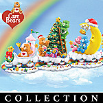 Care-a-lot Care Bears Christmas Train Figurine Collection