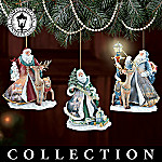 Thomas Kinkade Spirit Of Christmas Santa Christmas Ornament Collection