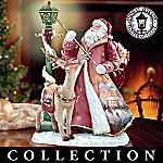 Thomas Kinkade St. Nick Santa Figurine Collection