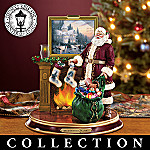 Thomas Kinkade Illuminated Santa Figurine Collection