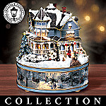 Thomas Kinkade Warm Holiday Lights Music Box Collection