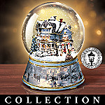 Thomas Kinkade Winter Wonderland Musical Water Globe Collection