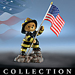 Brotherhood Bears Firefighter Teddy Bear Figurine Collection