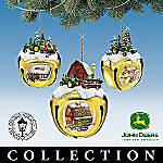 John Deere & Thomas Kinkade Sleigh Bells Christmas Ornament Collection