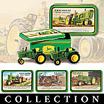 John Deere A New Generation Diecast Tractor Tin Set Collection