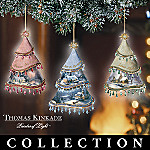 Thomas Kinkade Christmas Classics Bone China Christmas Ornament Collection