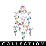 Lena Liu Radiant Reflections Butterfly Art Hanging Mobile Collection