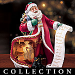 Norman Rockwell's Collectible Holiday Santa Figurine Collection