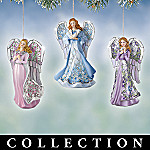 Angelic Inspirations Heirloom Porcelain Christmas Ornament Collection