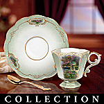 Thomas Kinkade Serenity Garden Porcelain Teacup And Saucer Collection
