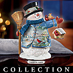 Home For The Holidays Wildlife Art Snowman Figurine Collection