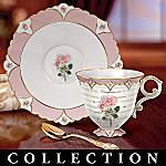 Precious Blossoms Collectible Floral Teacup And Saucer Collection: Gifts For Daughters