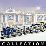 Collectible NFL Football St. Louis Rams Express Electric Train Set Collection
