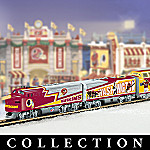 Collectible NFL Football Washington Redskins Express Electric Train Set Collection