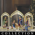 Heaven's Radiant Glory Peter Carl Faberge Style Nativity Figurine Collection