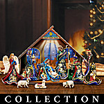 Miracle Of Light Stained Glass Nativity Scene Collection