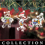 Crystal Clear Holidays Disney Winnie the Pooh Christmas Ornament Collection