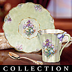 Lena Liu Garden Treasures Collectible Teacup and Saucer Set Collection