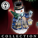Thomas Kinkade Winter Wonderland Snowman Christmas Ornament Collection