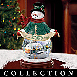 Thomas Kinkade Illuminated Snowman Figurine Collection