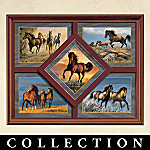Unbridled Beauty Horse Quintet Collector Plate Collection