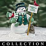 Collectible Irish Snowman Figurine: Irish Wishes Collection