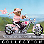 On The Road For A Cure Breast Cancer Biker Figurine Collection
