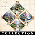 Thomas Kinkade Candle Holder Quartet Collector Plate Collection