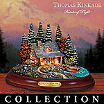 Thomas Kinkade's Collectible Woodland Retreats Country Cottage Figurine Collection