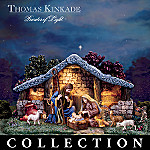 Thomas Kinkade Christmas Nativity Set Star Of Hope Creche Village Collection Decoration