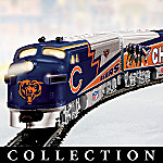 Collectible NFL Football Chicago Bears Express Electric Train Set Collection