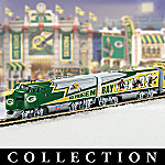 Green Bay Packers Express Collectible NFL Football Electric Train Set Collection