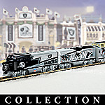 Oakland Raiders Express Collectible NFL Football Electric Train Set Collection