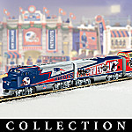 New England Patriots Express Collectible NFL Football Electric Train Set Collection