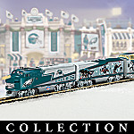 Collectible NFL Football Philadelphia Eagles Express Electric Train Set Collection