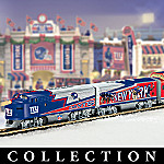 Collectible NFL Football New York Giants Express Electric Train Set Collection