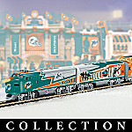 Collectible NFL Football Miami Dolphins Express Electric Train Set Collection