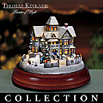 Thomas Kinkade's Celebration Of Light Victorian House Christmas Figurine Collection