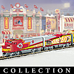 Collectible NFL Football Kansas City Chiefs Express Electric Train Set Collection