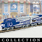 Collectible NFL Football Indianapolis Colts Super Bowl Electric Train Set Collection