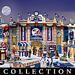 Collectible New England Patriots Christmas Village Collection