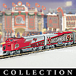 Collectible NFL Football Tampa Bay Buccaneers Express Electric Train Set Collection
