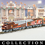 Collectible NFL Football Cleveland Browns Express Electric Train Set Collection