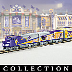Collectible NFL Football Minnesota Vikings Express Electric Train Set Collection