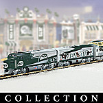 Collectible NFL Football New York Jets Express Electric Train Set Collection