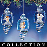 Starlight Blessing Heirloom Porcelain Christmas Ornament Collection